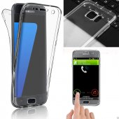 Samsung Galaxy S8 Kılıf Ön Arka Silikon Kılıf 360 Derece Koruma