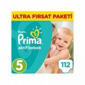 Prima Bebek Bezi Aktif Bebek 5 Beden Junior Ultra Fırsat Paketi 112 Adet
