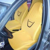 Dacia Sarı Ön Ve Arka Servis Koltuk Kılıf + 2li Yastık+2li Kemer