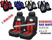 King Kral Taç Ön Arka Koltuk Kılıf 5 Başlık Kılıfı 1.kalite