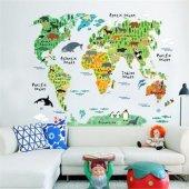 Renkli Resimli Dünya Harita Poster Duvar Resmi Ev Anaokulu Dekor