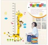 Boy Cetveli Zürafa Maymun Boy Ölçer Stıcker Gelişim Çizelgesi Ana