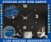 3d Büyük Duvar Saati 005 B Farklı Tasarım Zengin Görünüm Ofis Ev