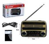 Radyo Retro Nostalji Şarjlı Fm Usb Sd Bluetooth Kamal Km 183