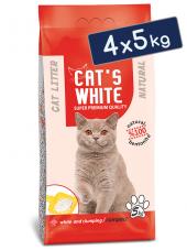 Cats White Kokusuz Topaklaşan Doğal Bentonit Kedi Kumu 6 Lt 5 Kg
