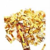 çevirilerek Patlatılan Altın Renk İçerikli Konfeti 29 Cm