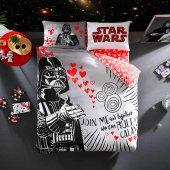 Taç Star Wars Valentin S Day Çift Kişilik Lisanslı Nevresim Takımı