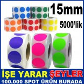 15mm Renkli Etiket Yapışkanlı Etiket Rulo 3