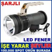 Su Geçirmez 8000w Şarjlı Led Işıklı El Feneri