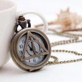 Harry Potter Deathly Hallows Ölüm Yadigarları Hayalet Kolye Saat