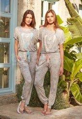 Feyza Bayan Kısa Kol Pijama Takımı 3275