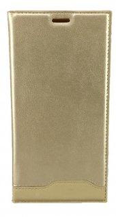 Samsung Galaxy C7 Pro Gizli Mıknatıslı Magnum Kılıf Gold
