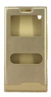 Vestel Venüs 5530 Gizli Mıknatıslı Pencereli Magnum Kılıf Gold