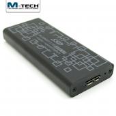 M Tech M2ssd0056 Usb3.0 Ngff M.2 Sata 6gbps İçin Harici Ssd Disk Kutusu, Siyah