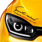 Kia Sephia Sports Mind Far Üstü Oto Sticker