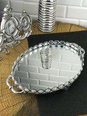 Gümüş İnci Seri Oval Tepsi
