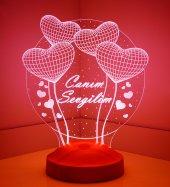 3 Boyutlu Canım Sevgilim Küre Kalpler Led Lamba
