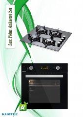 Kumtel 2li Siyah Lux Class Cam Ankastre Set