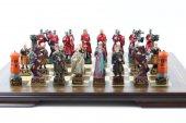 Satranç Takımı, K. Osmanlı Ve Kırmızı Haçlılar, Polyester Döküm, El Boyama
