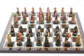 Satranç Takımı, Endülüs Ve İspanyol Askerleri,38 Cm. Sedef Sehpa