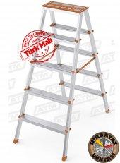 5+5 Çift Çıkışlı Alüminyum Merdiven