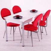 Evform Tango 4 Kişilik Masa Sandalye Mutfak Masası Takımı