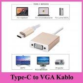 Type C To Vga Kablo Gümüş