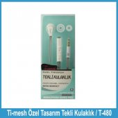 Ti Mesh Özel Tasarım Tekli Kulaklık T 480 Beyaz
