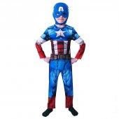 Kaptan Amerika Avengers Kostüm 3 4 Yaş