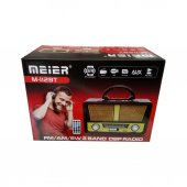 Meier M 112bt Usb Sd Mp3 Bluetooth Şarjlı Nostaljik Radyo