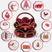 1001 Parça Eko Tuğralı Kına Seti 6 Renk Kına Gecesi Malzemeleri