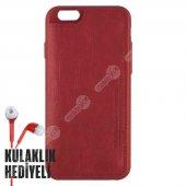 Puloka Apple İphone 6 Plus 6s Plus Multi Function Deri Cüzdanlı Kılıf Kırmızı