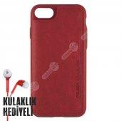 Puloka Apple İphone 7 8 Multi Function Deri Cüzdanlı Kılıf Kırmızı