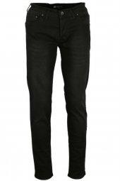 Erkek Kot Pantolon Slim Fit Likralı Siyah Rar00234