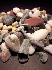 Miks Doğal Taş, Çakıl Taşı, Dekoratif Taş, Akvaryum,teraryum, Dekor Taşı, 2 Kg 20 35 Mm