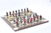 Satranç Takımı, Rus Ve Çeçen Askerleri, Polyester Döküm, El Boyama