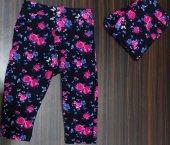 Kız Çocuk Desenli Tayt Pantolon