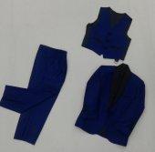 Erkek Çocuk Yelekli Takım Elbise 3 Lü Şal Yaka Yeni Sezon