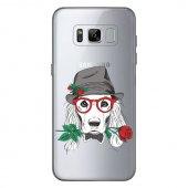 Samsung Galaxy S8 Kılıf Desenli Silikon Kap Arka Koruyucu İnce 0.2mm Kapak Hopi5601