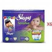Sleepy Sensitive Junior Bebek Bezi 5 Numara 32*6 192 Adet