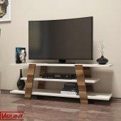 Variant Flower Tv Sehpası Tv Ünitesi Ceviz Metalikinci (Ekru)