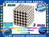 Sihirli Manyetik Toplar Gümüş Neodyum Mıknatıs Küp Bilye 216 Adet