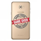Samsung Galaxy C7 Pro Kılıf Desenli Silikon Kap Arka Koruyucu İnce 0.2mm Kapak Hopi9126