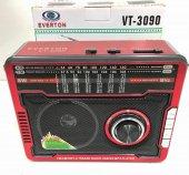 Everton Vt 3090 Şarjlı 11 Band Dünya Radyosu ,usb, Sd , Aux, Fener, Mp3 Player