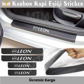 Seat Leon Karbon Kapı Eşiği Sticker (4 Adet)