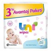 Uni Baby Wipes Islak Bebek Havlusu 3 Lü Avantaj Paket