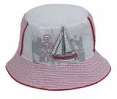 Bay Şapkacı Çocuk Yelken Baskılı Bermuda