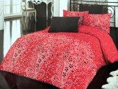 çeyizdiyarı Kırmızı Siyah Çiçekli Tek Kişilik Nevresim Takımı