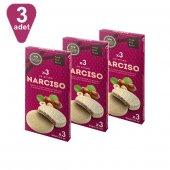 Narciso Beyaz Çikolata Kaplamalı Fındık Kremalı Gofret, 3 Ad X 60 Gr