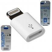 Apple İphone 8 Plus Çevirici Micro Usb To Lightning Dönüştürücü 2.1 Amper Kablo Şarj